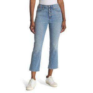Madewell Cali Demi-Boot Jeans Button-Front Edition